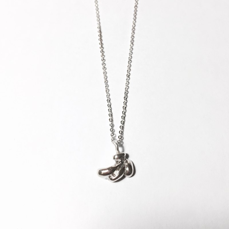 925 sterling silver banana necklace