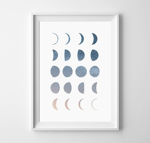 Moon phases (1) Customizable Hanging Poster