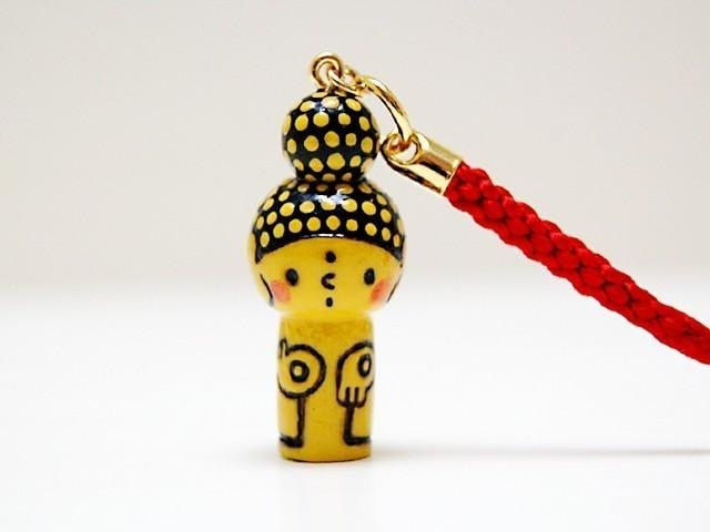 mini Kokeshi * Amitabha customers * strap * pop .o ○ [2]