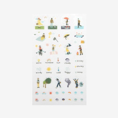 Dailylike beautiful day and day transparent stickers -16 weather, E2D04302
