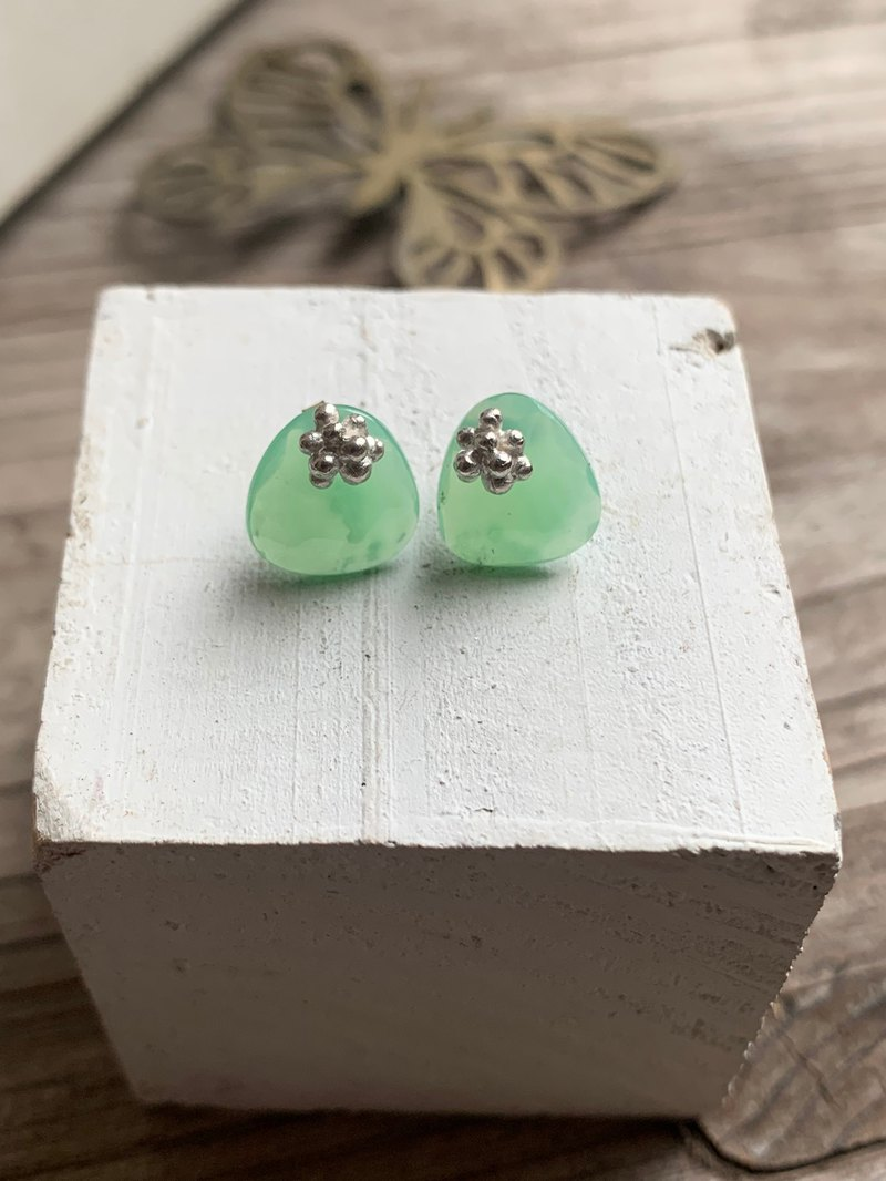 Chrysoprase 2way earrings