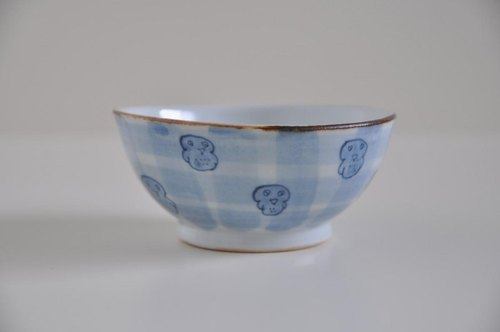 Dyeing bowl - birds check -