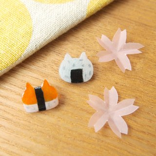 Meow - Sushi cat earrings