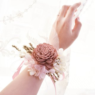 WANYI Classic Dry Flower Wrist Flower Corsage / Eternal Flower / Ring / Marriage / Bridesmaid / Wedding
