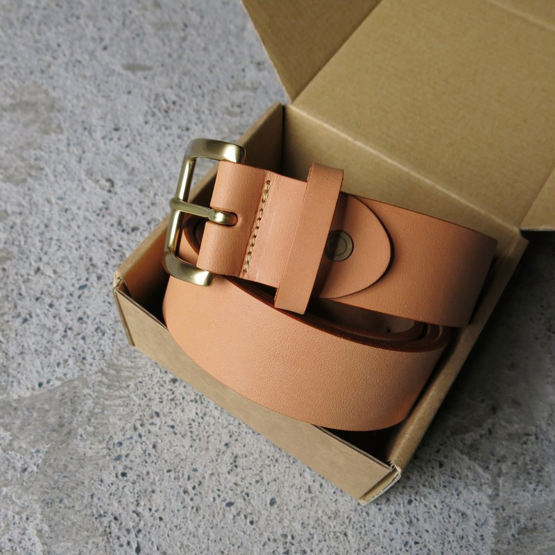 3.5cm wide medium version classic head belt _ primary color polyester leather handmade [LBT Pro]