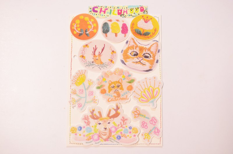 Embroidery stickers happy bag - Nordic Department