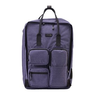 "SOLIS [ Texas Series ] 15"" casual laptop backpack(Blue Denim)"