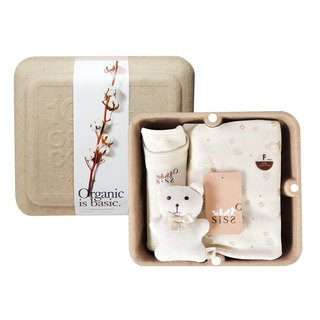 [SISSO organic cotton] small leaves fluttering blanket gift box