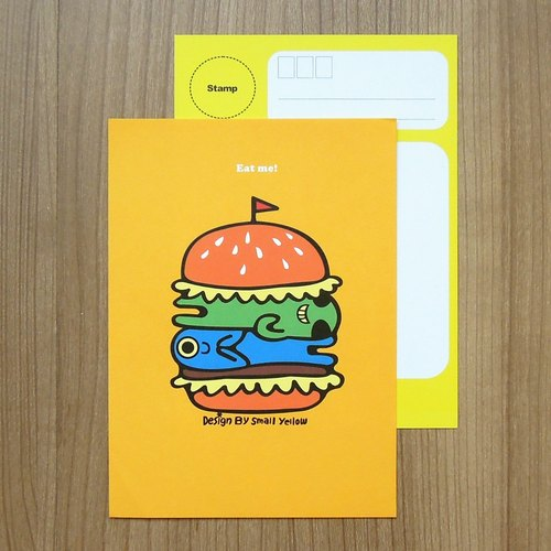 y _ hamburger postcard Planet