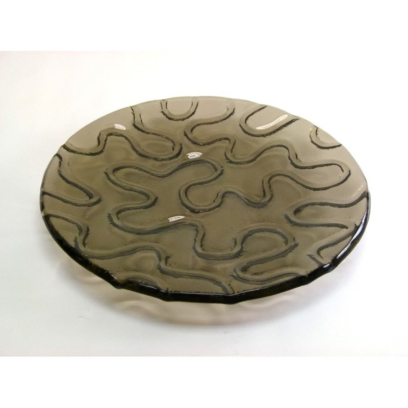 Icon curve glass dish (30 x 30cm) - 75012