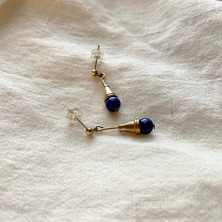 Blue ice cream - Lapis earrings