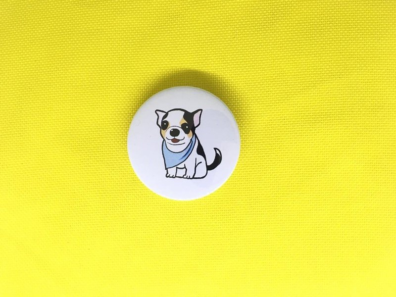 Chihuahua - blue scarf badge