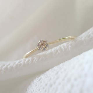Small flower broken diamond ring