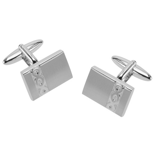 Embossed Infinity Rectangular Cufflinks