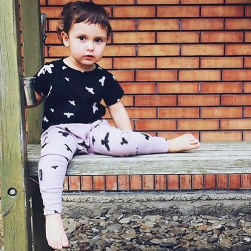 Nordic organic cotton children's leggings Leggard Duck Pink