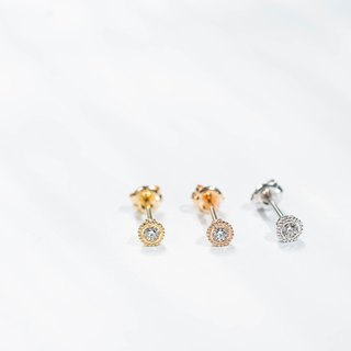 K18WG×Diamond 0.03ct Verseau -Pierce-