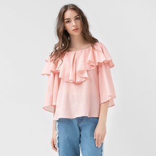 VACAE Ruffled Top Collar
