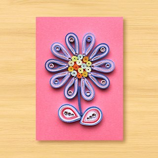 Handmade Roll Paper Card _ Flower_B1 ... Mother Card, Valentine Card