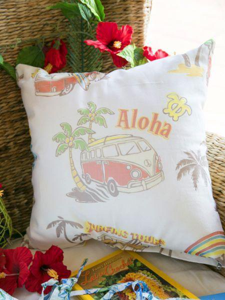 Honu & Bus Pillow Cover