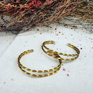 Copper hand made 【C double helix bracelet】