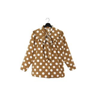 Back to Green:: Golden brown dots / / men and women can wear / / vintagei Shirts