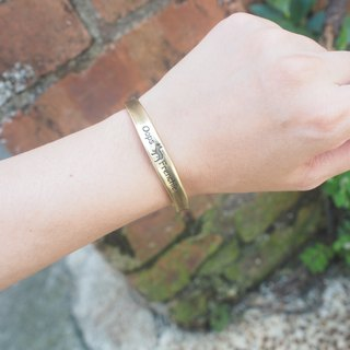 Oops Single Drill C Brass Bracelet - Mother's Day Gift -
