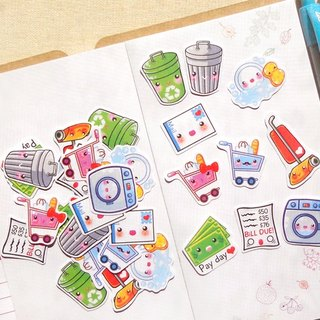 Housework Stickers 30 Pieces - Planner Stickers - Stickers for Planner