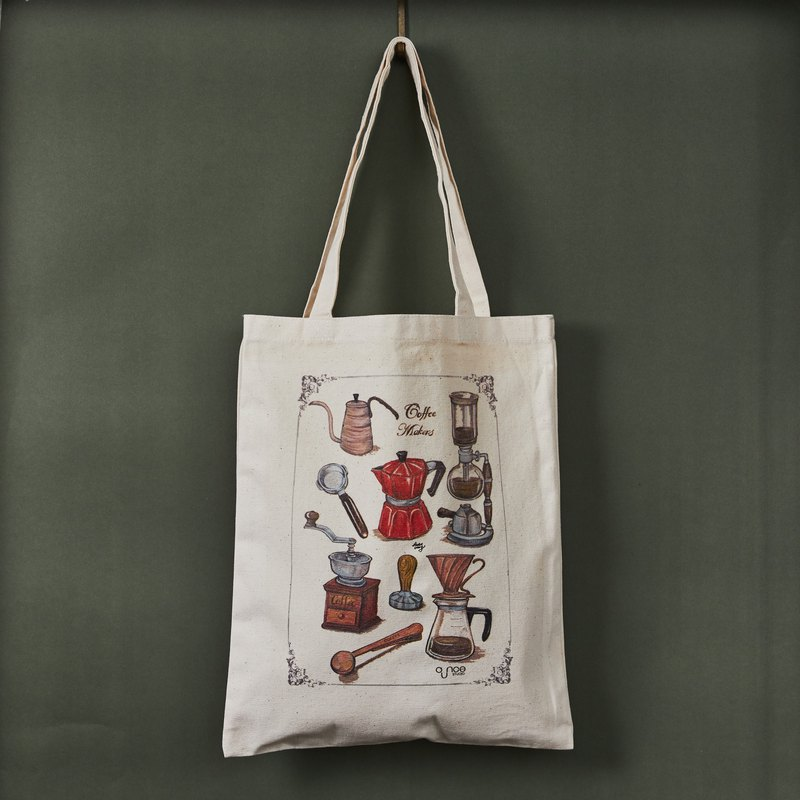 Coffee & Bakery Double Prints Tote Bag