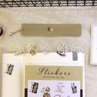 Good times retro objects tracing paper stickers - DIY self-clipping