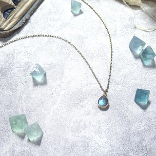 ♦ VIIART ♦ Snow ♦ Vintage natural labradorite silver plated 18K necklace limited sale