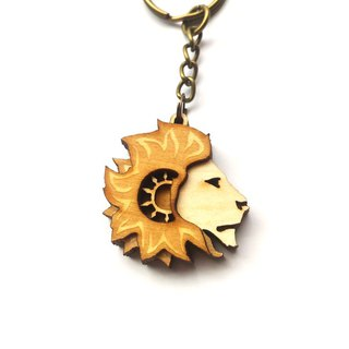 【】 Sun lion domineering Leo constellation key ring