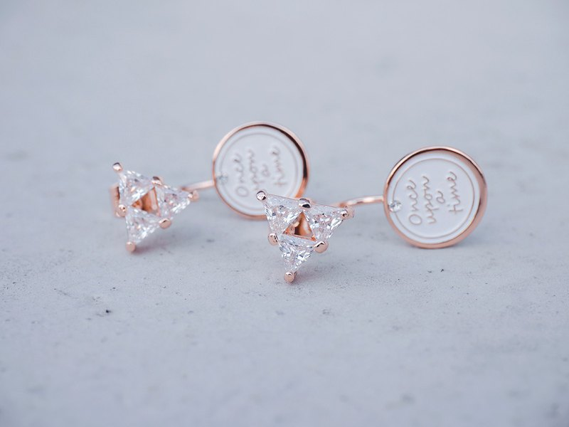 Crystallization-The triangle  < once upon a time*earrings >