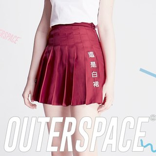 OUTER SPACE This is a white dress - pleated skirt