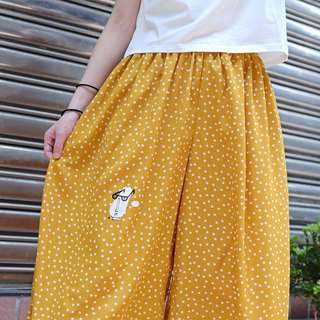 [Summer limited] Eyes are high and low - Mango salad little wide pants