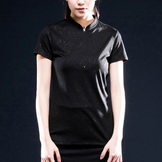 Airness RE InstaDRY 女款1/4袖刀領修身機能Polo - 黑光