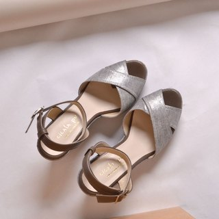 Wedge high-heeled sandals Cinderella