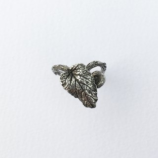 Petite Fille Women's Unfinished Accessories Mint Leaf Pure Silver Ring