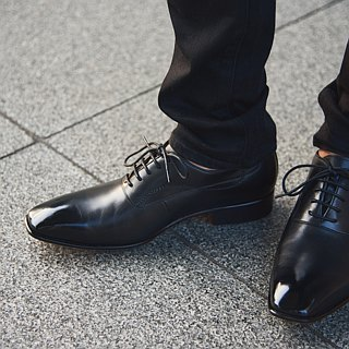 Lin Guoliang S-Line Balmoral Oxford Shoes Classic Black
