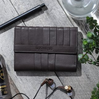 Retro Handmade Long Clip - Leather Wallet