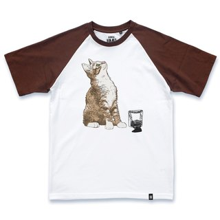 AMO®Original  canned  cotton T-shirt/AKE/The Cat Upsetting Ink But Playing Helpless