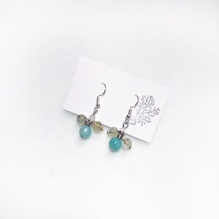 Puputraga Uesugi flower life / blue long moonlight love natural earrings