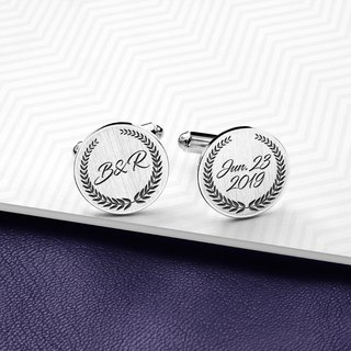 WeddinCufflinks personalized - EngravedCufflinks for groom - 925 Sterling Silver