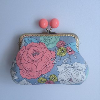 Gold package / storage bag / elegant flower / gray orange flower