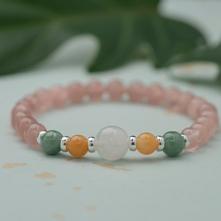 【Woody'sHandmade】相愛吧。三色水晶手串Let's fall in Love,Three-color crystal bracelet