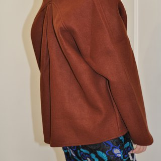 Flat 135 X Taiwan designer three-dimensional cut 90% wool wool short coat jacket with a good match