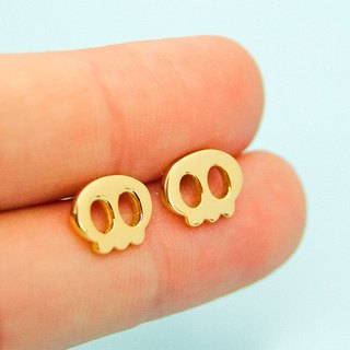 Reaper Earring in Brass with 14k yellow gold plating
