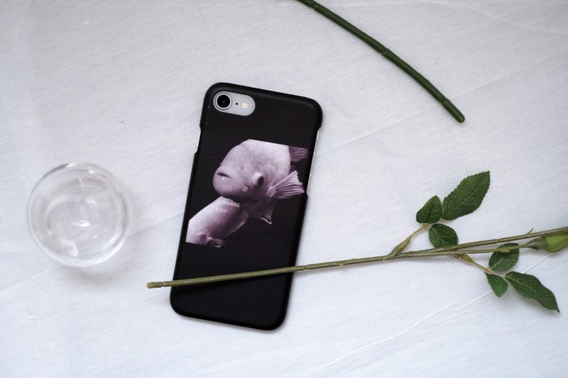 a strange fish black phone case hard shell