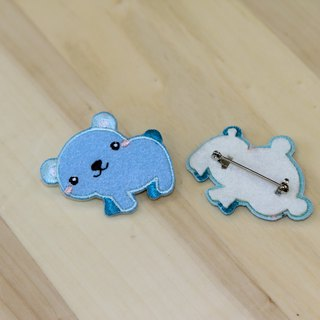 Cloth embroidered pin - Forest cute animal series Bear cute (single)