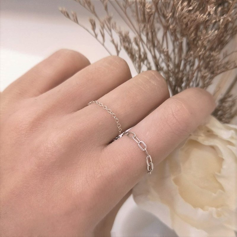 │Simplified │Air Sense • Cross Chain Ring • Sterling Silver Ring