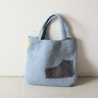 Patch gray handbag
